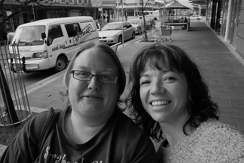 Michelle & I hanging at the G