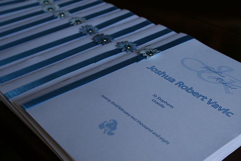 Joshuas Service Booklets