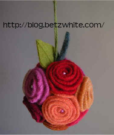 BetzWhite - felted wool pomander
