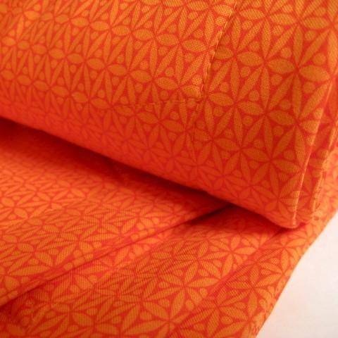 Organic Quilt in Orange