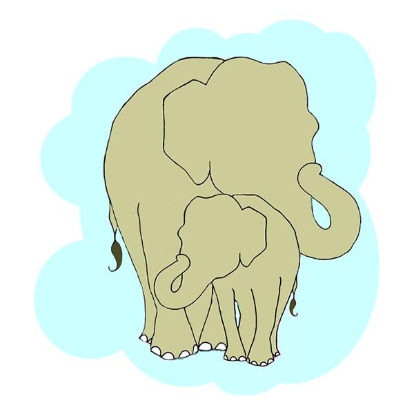 Loving Baby Elephant