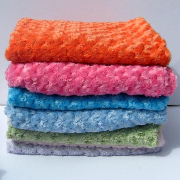 Snow Plush Swirl Blanket by bellaserababy