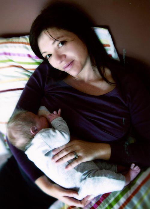 Bek and Ben 3 days old - Breastfeeding