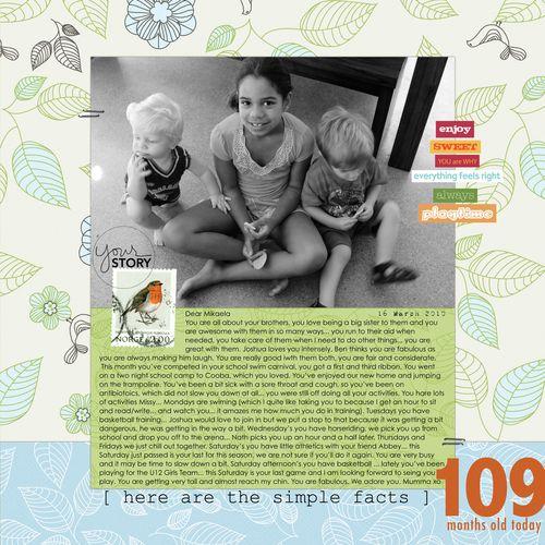 Mikalela 109 months