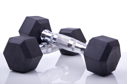Dumbbell hex weights