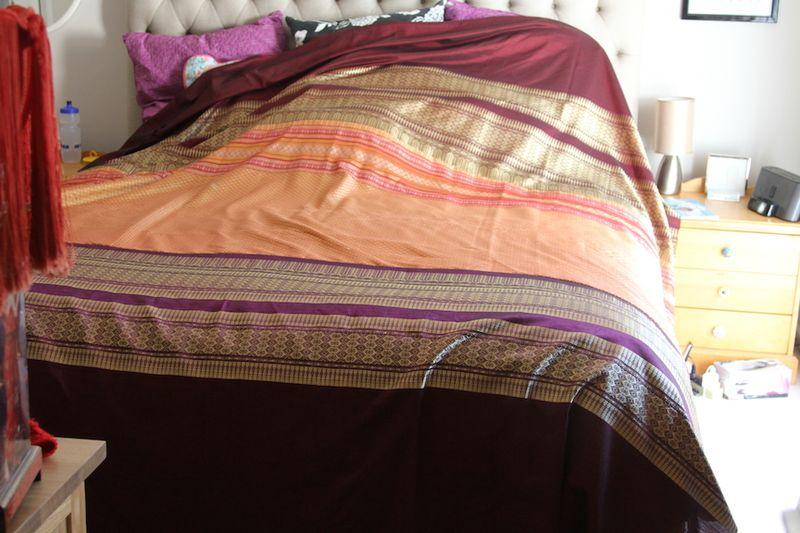 Thai Silk Quilt Top w