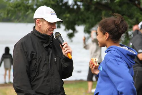 Post race interview with Shane