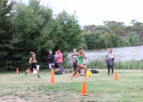 Sprint finish with Mitch