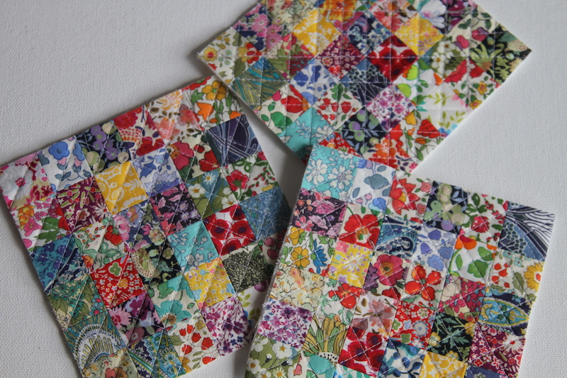 Quilted Liberty Pincushion tops